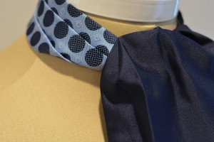 Sterling Navy Reversible Ascot