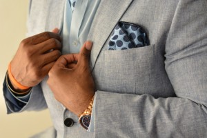 Bubble Blue Pocket Square
