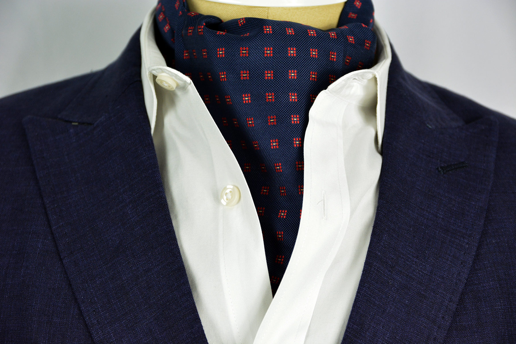 Checker Red Sterling Ascot Tie Sterling Ascots