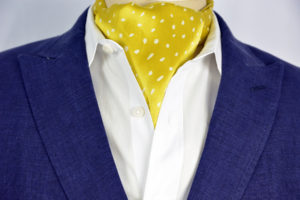 Medallion Spec Sterling Ascot Tie