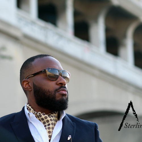 The Autumn Gold Sterling Ascot. The Look: Gold Ascot with white dress shirt at the L.A River. Available only at SterlingAscots.com
