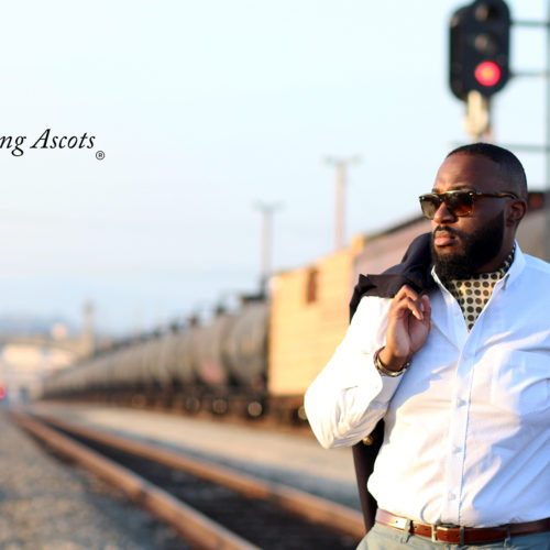 The Autumn Gold Sterling Ascot. The Look: Gold Ascot with white dress shirt. Available only at SterlingAscots.com